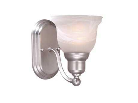 Vaxcel Lasalle Brushed Nickel & Alabaster Glass Vanity Light
