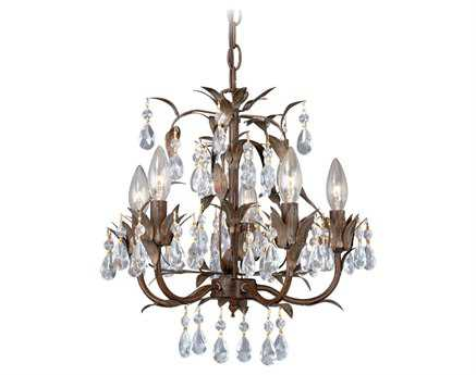 Vaxcel Helenic Patina Five-Light 15'' Wide Mini Chandelier