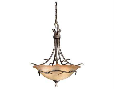 Vaxcel Monterey Autumn Parina & Umber Mist Glass Three-Light 20 Pendant