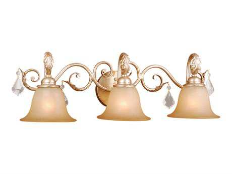 Vaxcel Newcastle Gilded White Gold Three-Light Vanity Light