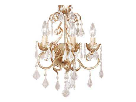 Vaxcel Newcastle Gilded White Gold Three-Light Wall Sconce