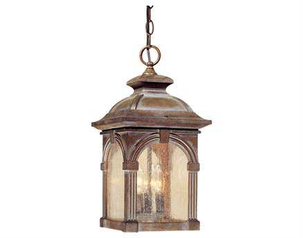 Vaxcel Essex Royal Bronze & Seeded Glass Three-Light 9 Outdoor Hanging Light