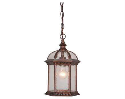 Vaxcel Chateau Royal Bronze & Seeded Glass 8 Outdoor Hanging Light