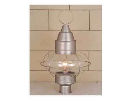Vaxcel Chatham Brushed Nickel Seedy Glass 13 Outdoor Post Mount Lantern