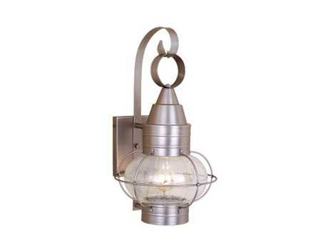 Vaxcel Chatham Brushed Nickel & Seedy Glass 13 Outdoor Wall Light