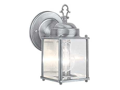 Vaxcel Millard Brushed Nickel & Clear Beveled Glass 5 Outdoor Wall Light