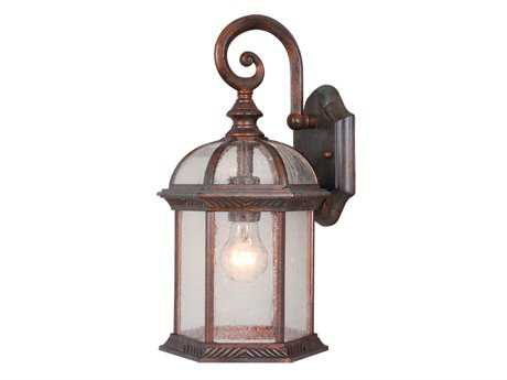 Vaxcel Chateau Royal Bronze & Seeded Glass 8 Outdoor Wall Light