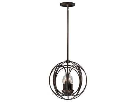 Vaxcel Solstice Burnished Bronze Four-Light 14 Pendant