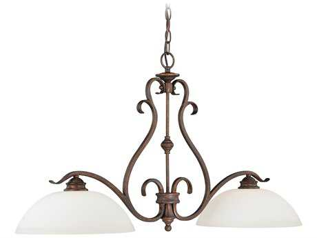 Vaxcel Hartford Weathered Patina Two-Light 36.5'' Wide Island Ceiling Light
