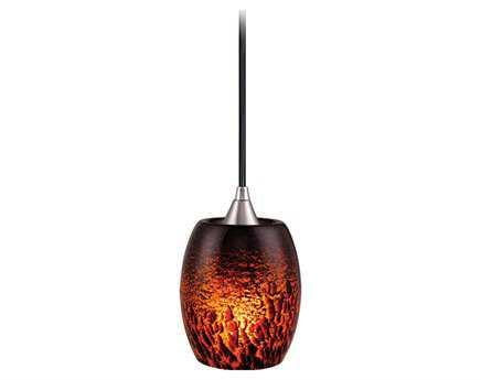 Vaxcel Milano Satin Nickel & Dark Umbra Glass Mini-Pendant
