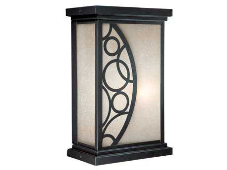 Vaxcel Prosecco Noble Bronze & Amber Seeded Glass 6 Outdoor Wall Light