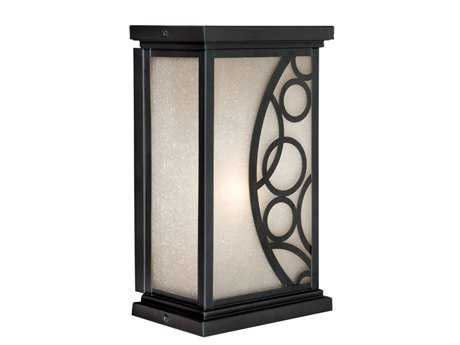 Vaxcel Prosecco Noble Bronze & Amber Seeded Glass 8 Outdoor Wall Light