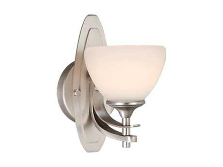 Vaxcel Sebring Brushed Nickel & Frosted Opal Glass Wall Sconce