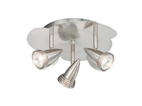 Vaxcel Satin Nickel & Three-Light Line Voltage Spot Lights
