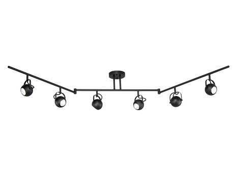 Vaxcel Pixie Noble Bronze & Black Metal Six-Light Rail Light