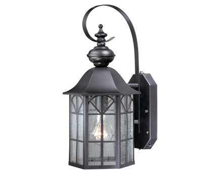 Vaxcel Dualux Tudor Dark Bronze & Seeded Glass 9 Outdoor Smart Light