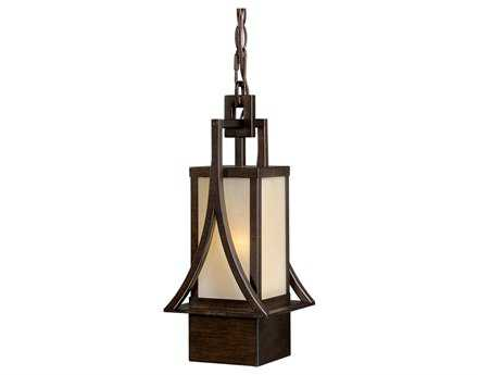 Vaxcel Osaka Venetian Bronze & Champagne Glass 6 Outdoor Hanging Light