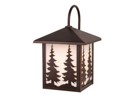 Vaxcel Yosemite Burnished Bronze & Tiffany Glass 8 Outdoor Wall Light