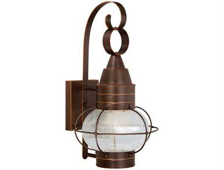 Vaxcel Chatham Burnished Bronze & Seeded Glass 10 Outdoor Wall Light