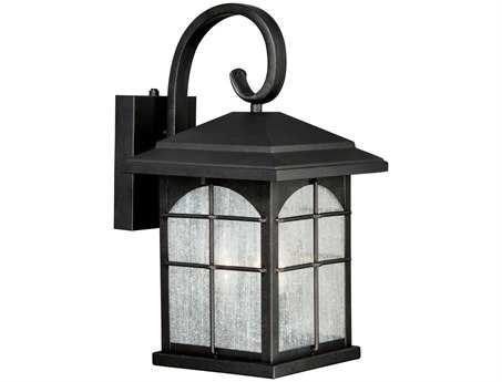 Vaxcel Bembridge Gold Stone & Clear Seeded Glass Three-Light 9 Outdoor Wall Light