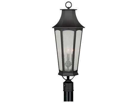 Vaxcel Preston New Bronze Three-Light 10.25'' Wide Outdoor Post Light