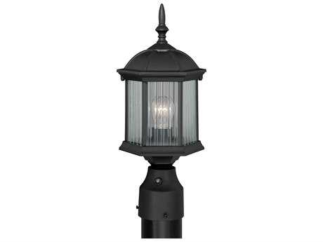 Vaxcel Kingston Textured Black 6.25'' Wide Outdoor Post Light