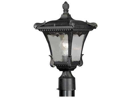 Vaxcel Castile Weathered Bronze 9'' Wide Outdoor Post Light