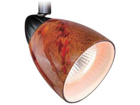 Vaxcel Veneto Dark Bronze Spot Light with Lava Swirl Glass