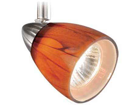 Vaxcel Veneto Satin Nickel Spot Light with Honey Ripple Glass