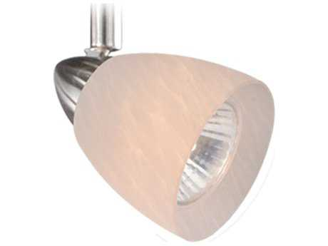 Vaxcel Veneto Satin Nickel Spot Light with White Umbra Glass