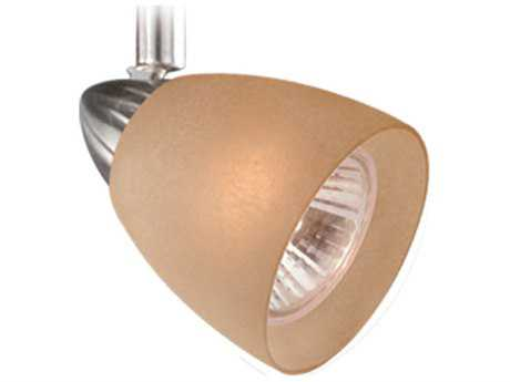 Vaxcel Veneto Satin Nickel Spot Light with Crème Cognac Glass