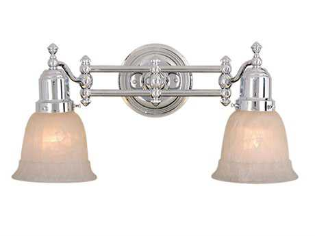 Vaxcel Swing Arm Chrome & Alabaster Glass Two-Light Swing Arm Wall Light