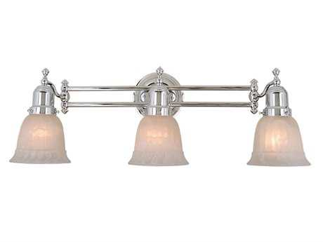 Vaxcel Swing Arm Chrome & Alabaster Glass Three-Light Swing Arm Wall Light