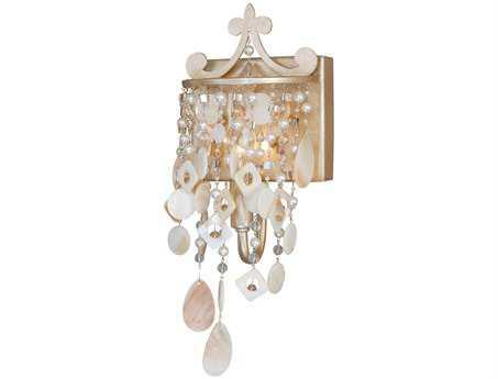 Vaxcel Anastasia Silver Leaf Vanity Light