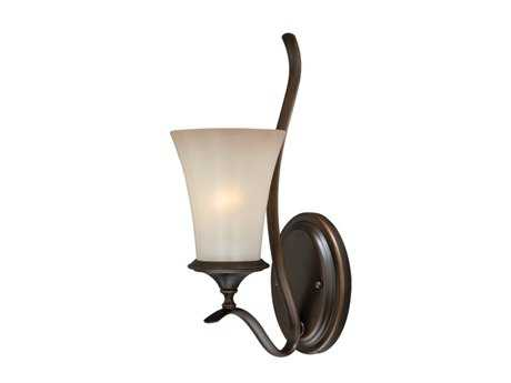 Vaxcel Sonora Venetian Bronze & Champagne Glass Wall Sconce