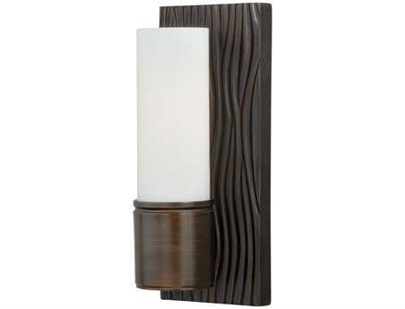 Vaxcel Lucia Venetian Bronze & Frosted Opal Glass 4.5 Wall Sconce
