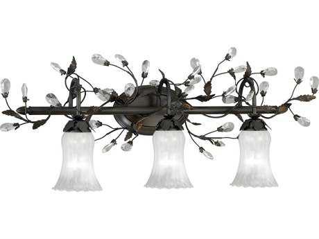 Vaxcel Trellis Architectural Bronze Three-Light 30'' Wide Vanity Light