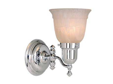 Vaxcel Swing Arm Chrome & Alabaster Glass Swing Arm Wall Light
