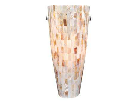Vaxcel Milano Satin Nickel & Mosaic Shell Glass Wall Sconce
