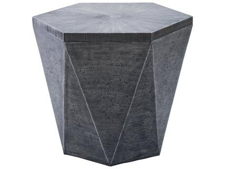 Veranda Classics Geo Grey TeraFab 25.5'' Octagon End Table