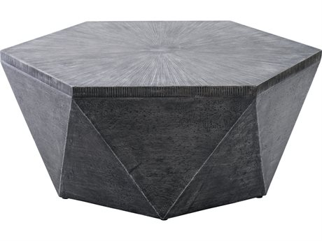 Veranda Classics Geo Grey TeraFab 42'' Octagon Coffee Table