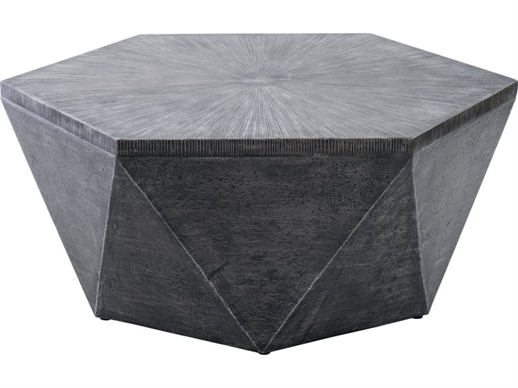 Veranda Classics Geo Grey Terafab 42 Octagon Coffee Table Ver092390