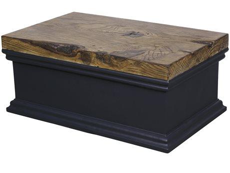 Veranda Classics Modern Renovation Aluminum Black Walnut 42''W x 26''D Rectangular Coffee Table PatioLiving