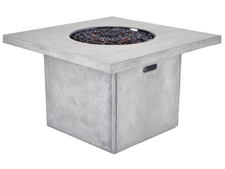 Veranda Classics Canyon Aluminum 38''Wide Square TerraFab Top Fire Pit Table PatioLiving