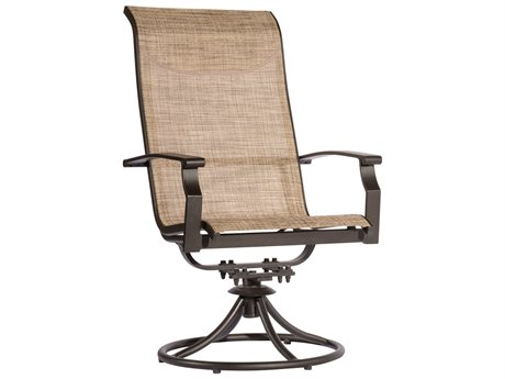 Veranda Classics Peninsula Java Aluminum Sling Swivel Rocker Dining Chair - Price Includes 2 Chairs