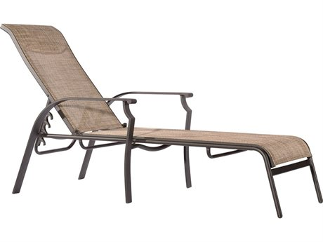 Veranda Classics Peninsula Java Aluminum Sling Chaise Lounge - Price Includes 2 Chairs