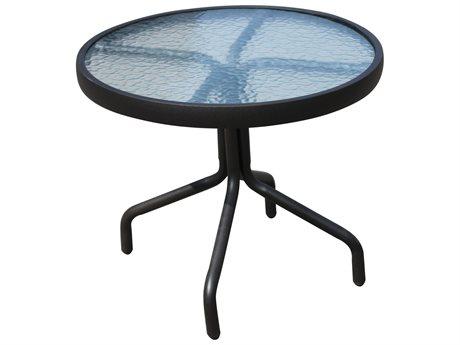 Veranda Classics Peninsula Java Aluminum 20'' Round Side Table