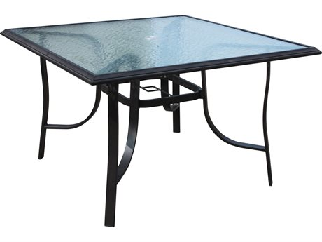 Veranda Classics Peninsula Java Aluminum 45'' Square Dining Table