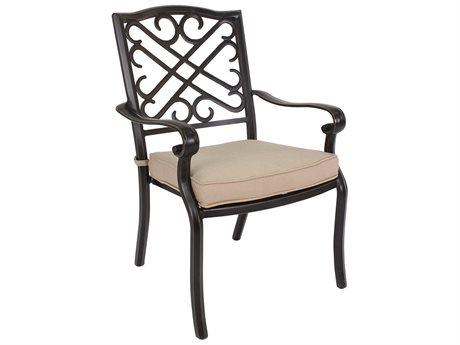 Veranda Classics Harmony Radiant Bronze Cast Aluminum Dining Chairs - Price Includes 4 Chairs