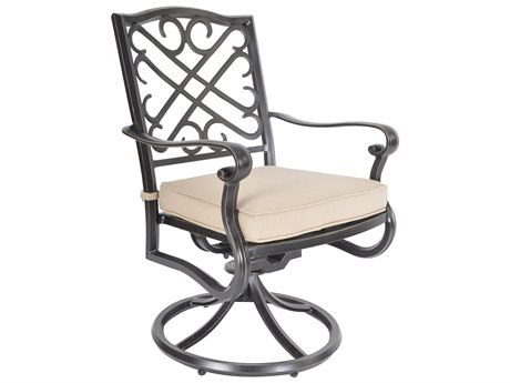 Veranda Classics Harmony Radiant Bronze Cast Aluminum Swivel Rocking Dining Chairs - Price Includes 2 Chairs